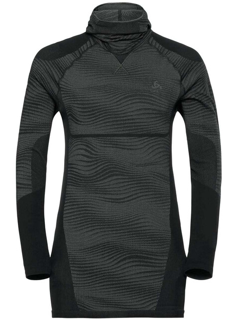 Odlo Suw Performance Blackcomb LS Top Men black-odlo concrete grey-silver